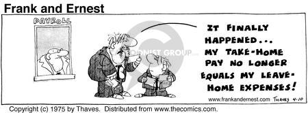 Comic Strip Bob Thaves Tom Thaves  Frank and Ernest 1975-04-10 exceed