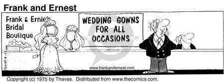 Comic Strip Bob Thaves Tom Thaves  Frank and Ernest 1975-04-12 nuptial