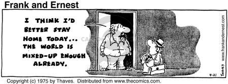 Comic Strip Bob Thaves Tom Thaves  Frank and Ernest 1975-04-21 culture