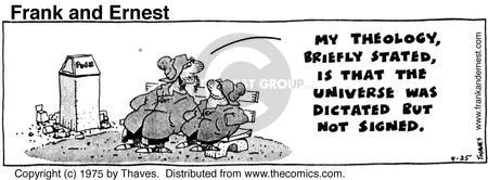Comic Strip Bob Thaves Tom Thaves  Frank and Ernest 1975-04-25 idea
