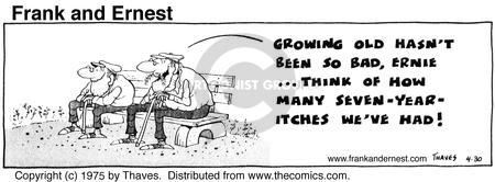 Cartoonist Bob Thaves Tom Thaves  Frank and Ernest 1975-04-30 optimist
