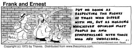 Comic Strip Bob Thaves Tom Thaves  Frank and Ernest 1975-05-01 assess