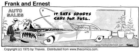 Comic Strip Bob Thaves Tom Thaves  Frank and Ernest 1975-05-06 automobile energy