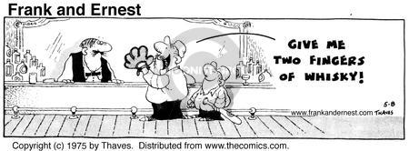 Comic Strip Bob Thaves Tom Thaves  Frank and Ernest 1975-05-08 glove