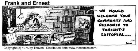 Cartoonist Bob Thaves Tom Thaves  Frank and Ernest 1975-05-24 news