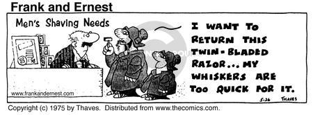 Comic Strip Bob Thaves Tom Thaves  Frank and Ernest 1975-05-26 department