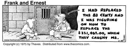 Comic Strip Bob Thaves Tom Thaves  Frank and Ernest 1975-05-28 conceal
