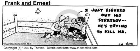 Cartoonist Bob Thaves Tom Thaves  Frank and Ernest 1975-05-29 hurt