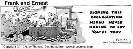 Cartoonist Bob Thaves Tom Thaves  Frank and Ernest 1975-07-02 phrase