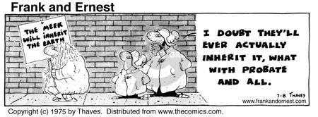 Comic Strip Bob Thaves Tom Thaves  Frank and Ernest 1975-07-08 earth