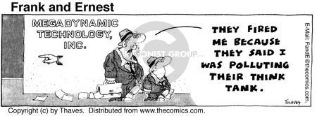 Comic Strip Bob Thaves Tom Thaves  Frank and Ernest 1975-08-07 employee