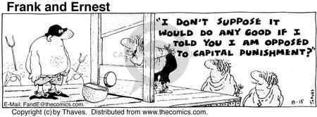 Comic Strip Bob Thaves Tom Thaves  Frank and Ernest 1975-08-15 law