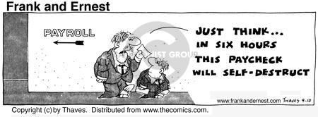 Comic Strip Bob Thaves Tom Thaves  Frank and Ernest 1975-09-10 employee