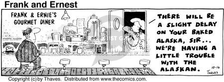 Comic Strip Bob Thaves Tom Thaves  Frank and Ernest 1975-10-16 gourmet cooking