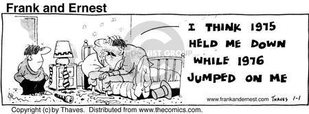 Cartoonist Bob Thaves Tom Thaves  Frank and Ernest 1976-01-01 hurt