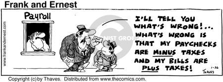 Comic Strip Bob Thaves Tom Thaves  Frank and Ernest 1976-01-26 employee