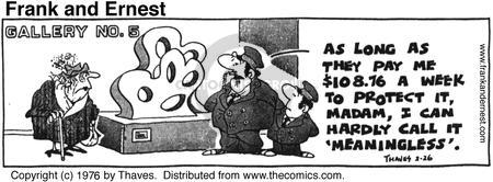 Comic Strip Bob Thaves Tom Thaves  Frank and Ernest 1976-02-26 assess