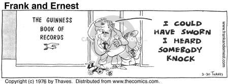 Comic Strip Bob Thaves Tom Thaves  Frank and Ernest 1976-03-30 hear