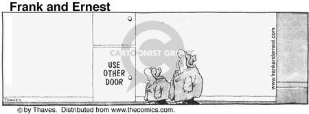 Comic Strip Bob Thaves Tom Thaves  Frank and Ernest 1976-08-11 sign