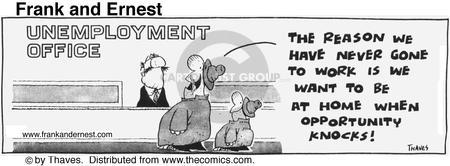 Comic Strip Bob Thaves Tom Thaves  Frank and Ernest 1976-08-18 employ
