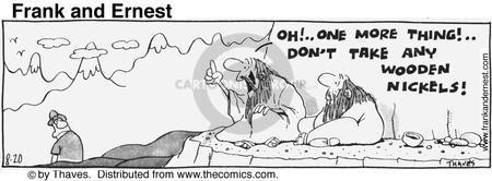 Comic Strip Bob Thaves Tom Thaves  Frank and Ernest 1976-08-20 guru