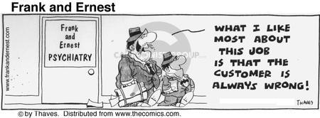 Cartoonist Bob Thaves Tom Thaves  Frank and Ernest 1976-08-31 wrong