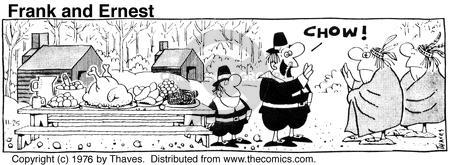 Comic Strip Bob Thaves Tom Thaves  Frank and Ernest 1976-11-25 Thanksgiving