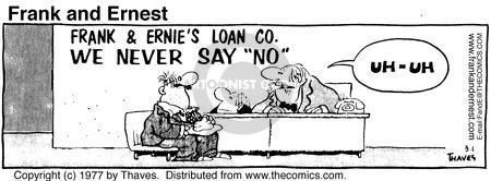 Comic Strip Bob Thaves Tom Thaves  Frank and Ernest 1977-03-01 employee