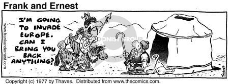 Comic Strip Bob Thaves Tom Thaves  Frank and Ernest 1977-05-25 Europe