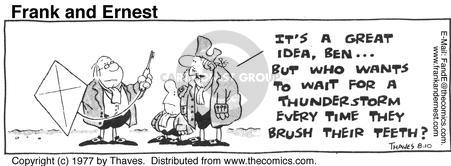 Comic Strip Bob Thaves Tom Thaves  Frank and Ernest 1977-08-10 delay
