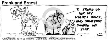 Comic Strip Bob Thaves Tom Thaves  Frank and Ernest 1977-08-29 sign