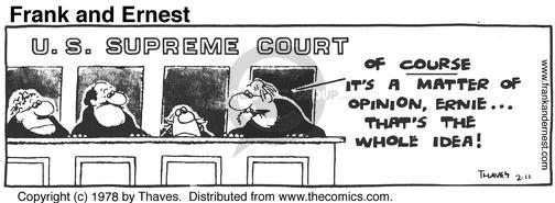 Comic Strip Bob Thaves Tom Thaves  Frank and Ernest 1978-02-11 Supreme Court