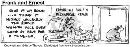 Cartoonist Bob Thaves Tom Thaves  Frank and Ernest 1978-03-14 mechanical