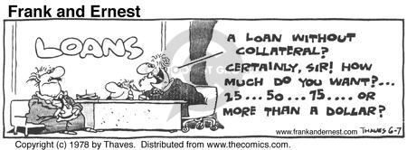 Comic Strip Bob Thaves Tom Thaves  Frank and Ernest 1978-06-07 financial institution