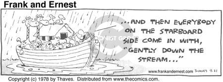 Comic Strip Bob Thaves Tom Thaves  Frank and Ernest 1978-09-21 boat