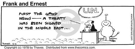 Comic Strip Bob Thaves Tom Thaves  Frank and Ernest 1978-12-06 treaty