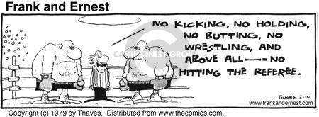 Cartoonist Bob Thaves Tom Thaves  Frank and Ernest 1979-02-10 wrestle