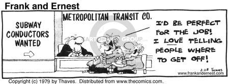 Comic Strip Bob Thaves Tom Thaves  Frank and Ernest 1979-02-28 applicant