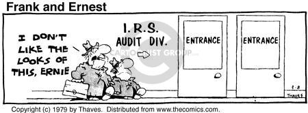 Comic Strip Bob Thaves Tom Thaves  Frank and Ernest 1979-03-08 tax