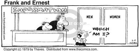 Comic Strip Bob Thaves Tom Thaves  Frank and Ernest 1979-03-15 gender identification