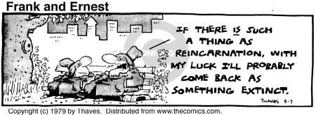 Comic Strip Bob Thaves Tom Thaves  Frank and Ernest 1979-05-07 species extinction