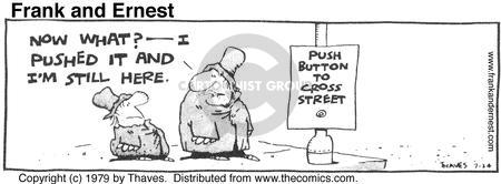 Comic Strip Bob Thaves Tom Thaves  Frank and Ernest 1979-07-24 sign