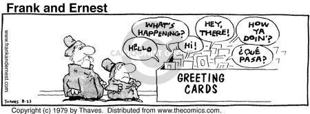 Comic Strip Bob Thaves Tom Thaves  Frank and Ernest 1979-08-23 letter
