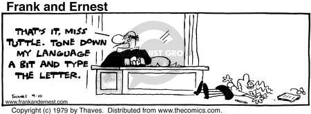Comic Strip Bob Thaves Tom Thaves  Frank and Ernest 1979-09-10 Administrative assistant