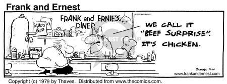 Cartoonist Bob Thaves Tom Thaves  Frank and Ernest 1979-09-14 counter