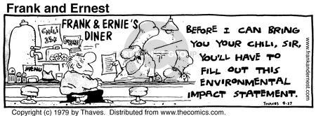 Comic Strip Bob Thaves Tom Thaves  Frank and Ernest 1979-09-27 fill