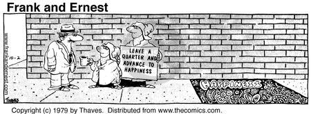 Comic Strip Bob Thaves Tom Thaves  Frank and Ernest 1979-10-02 donate