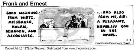 Cartoonist Bob Thaves Tom Thaves  Frank and Ernest 1979-10-03 good