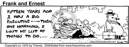 Comic Strip Bob Thaves Tom Thaves  Frank and Ernest 1979-10-06 lost job