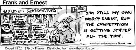 Cartoonist Bob Thaves Tom Thaves  Frank and Ernest 1979-10-09 dangerous